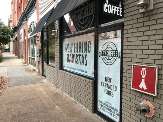 SBY Coffee will replace Main Roots Coffee at 111 W. Main St. in Downtown Salisbury. Nov. 12, 2018.