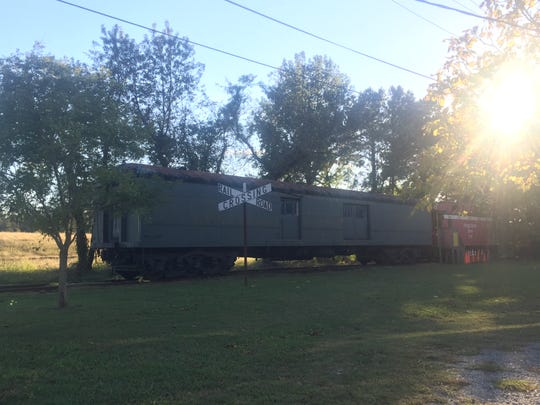 Old railroad cars in Cape Charles, VIrginia