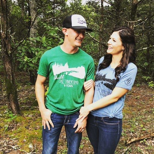 Based in Branson, MeLissa Clarkson started B-Town Threads in 2017 to make modern, trendy tees to represent Branson and the Ozarks. Pictured: The Como, $24.