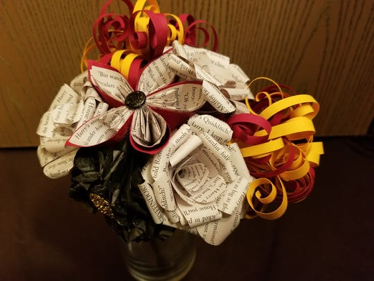 Based in Springfield, Fictional Floral just began selling creative handmade paper flowers, most of them made from books. Bouquets ($25) are options along with hair clips and individual flowers ($4).
