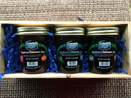 Persimmon Hill Farm in Lampe offers a Sweet Heat Pepper Jam Gift Crate ($23.80) among many other gourmet products made from things grown on the berry, fruit and mushroom farm near Table Rock Lake.