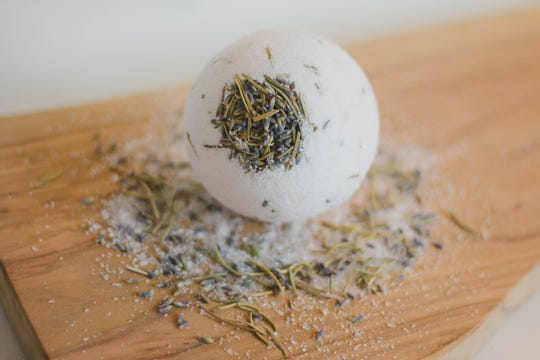 This lavender-rosemary bath bomb ($2.49-$7.99) is made by Poppy & Petunia, a line made by Ashley Ensley of Springfield. Ensley makes a vast range of bath products, from Star Wars-themed mini-soaps to Moroccan clay masks perfumed with rosewater.