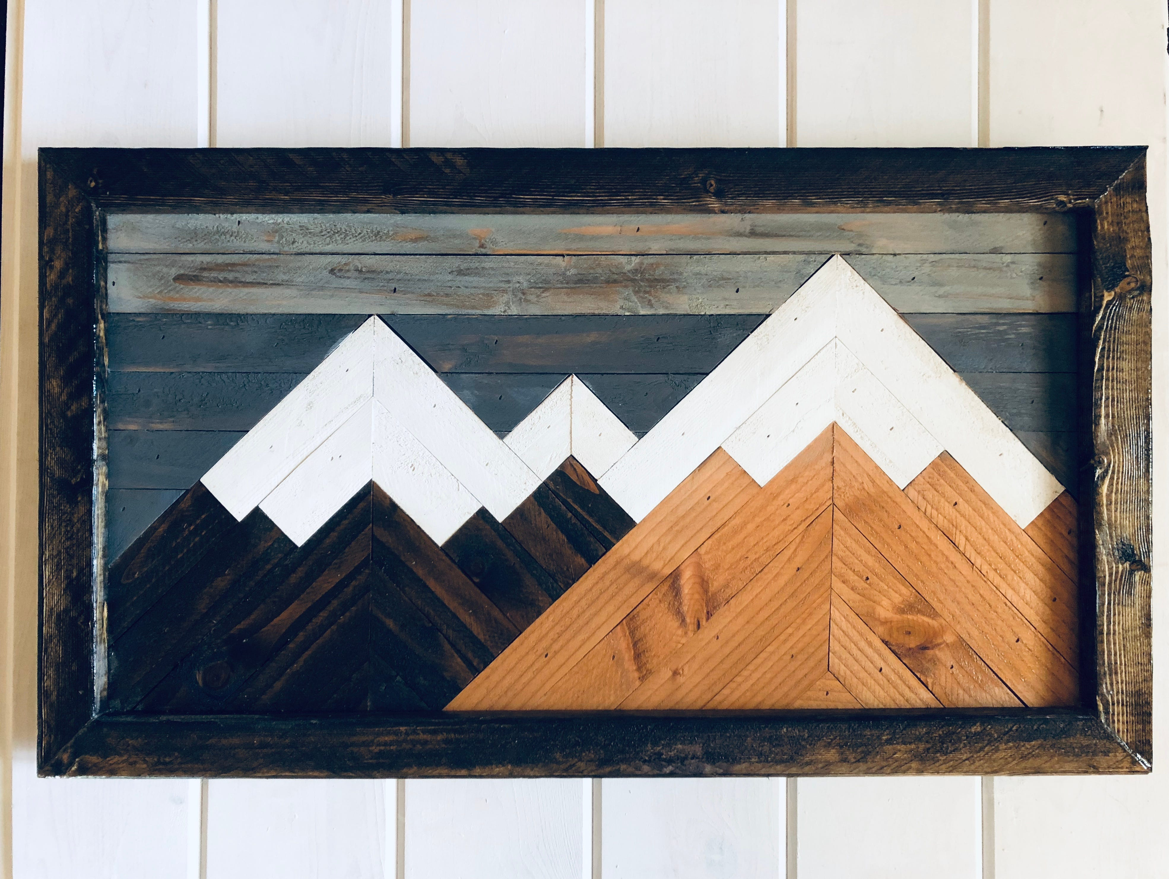 Native Range hardwood art is hand-made by craftsman Aaron Black from his north Springfield home. The mountain art piece pictured ($99) is one of several sizes and designs ranging from $49.99 up to $499.