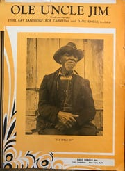 "Sheet music cover for ""Ole Uncle Jim."""
