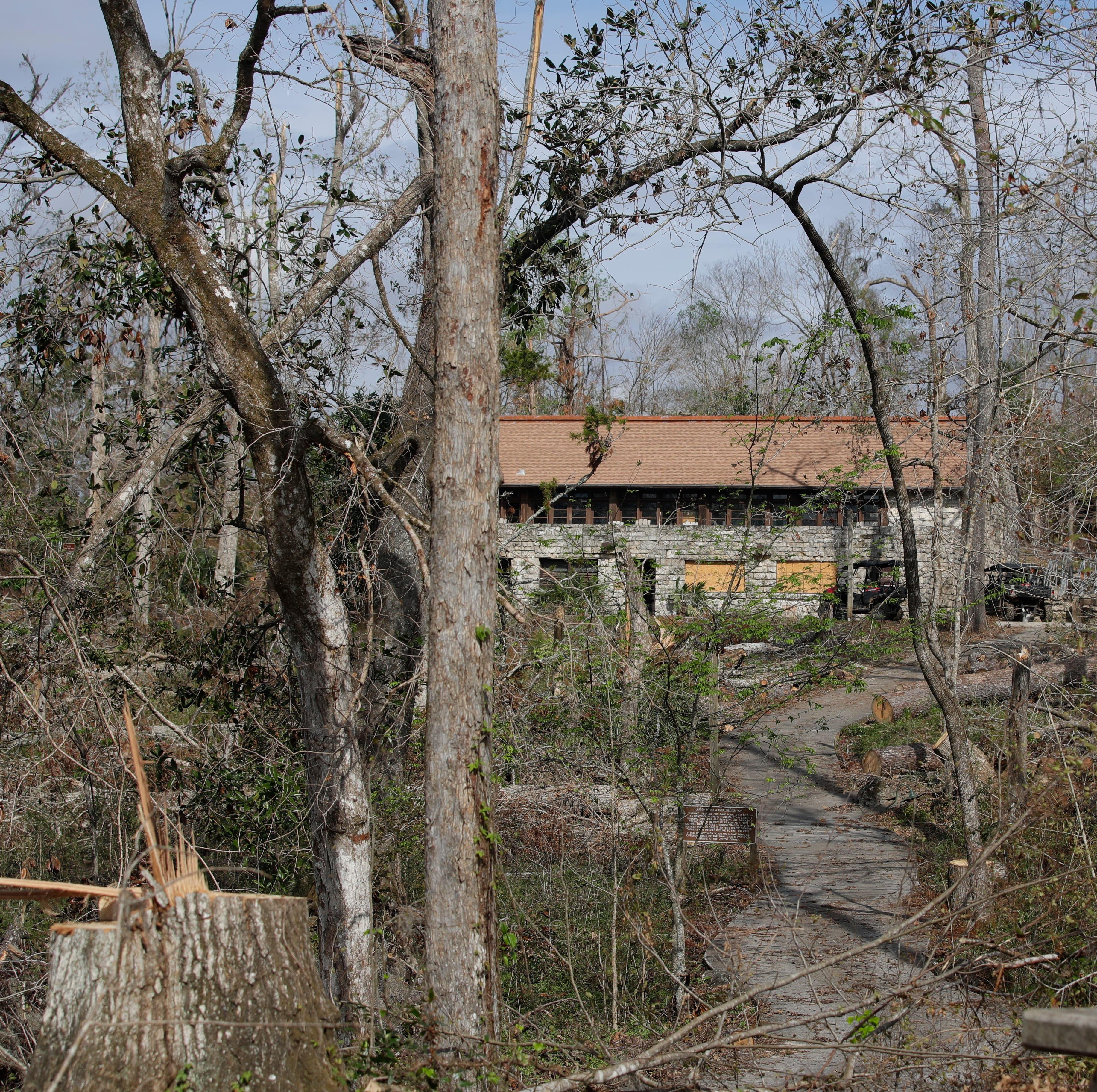 Hurricane Michael toppled 80 percent of its trees. Now Florida Caverns State Park digs out