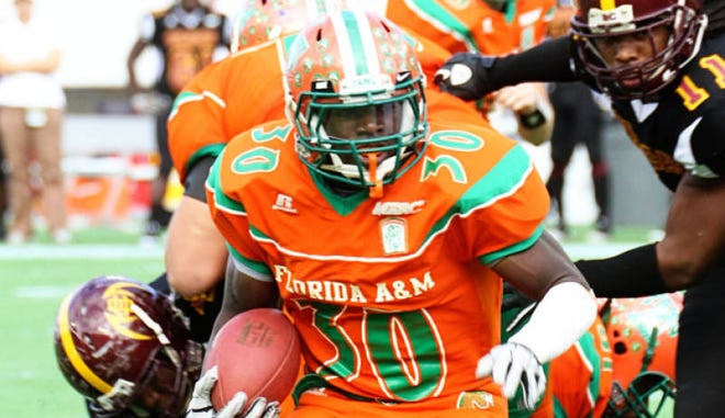 FAMU running back Phillip Sylvester had 26 carries for 146 yards and three touchdowns in the 2010 Florida Classic. The Rattlers defeated Bethune-Cookman 38-27.