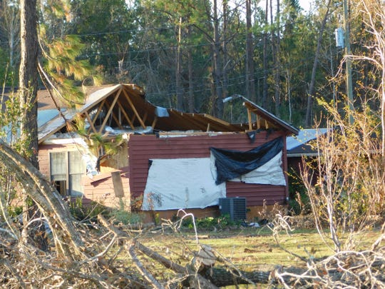 Hurricane Michael damage in Bristol was widespread. Many homes were wrecked.