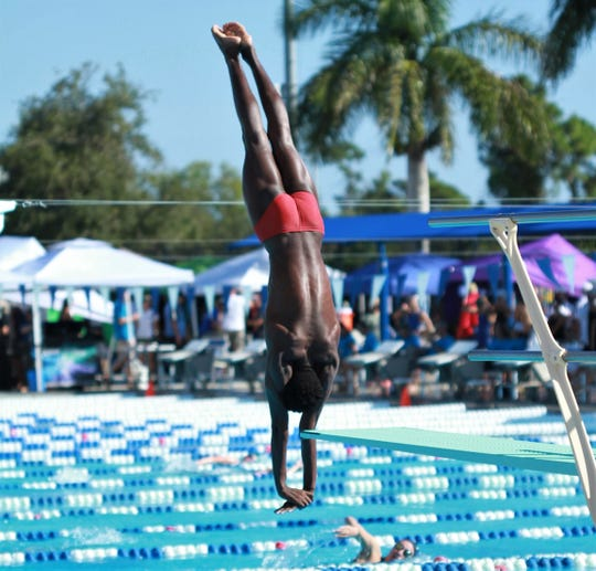 Leon senior diver Taj Cole won a Class 3A state title on Friday in Stuart.
