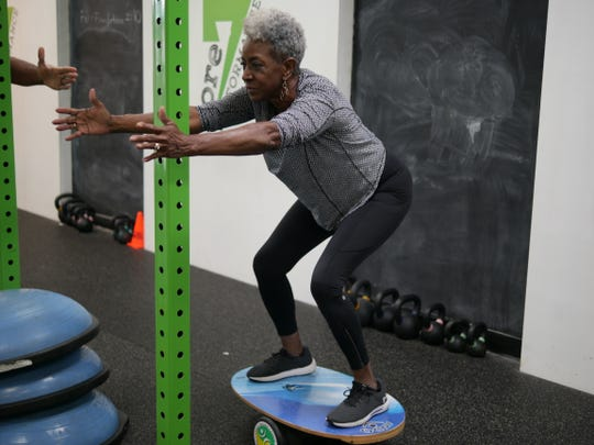 Brenda Thompson, 68, exercises at least three times a week
