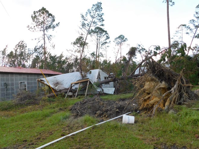 Hurricane Michael was unsparing of its onslaught on storage sheds and other property in Bristol.