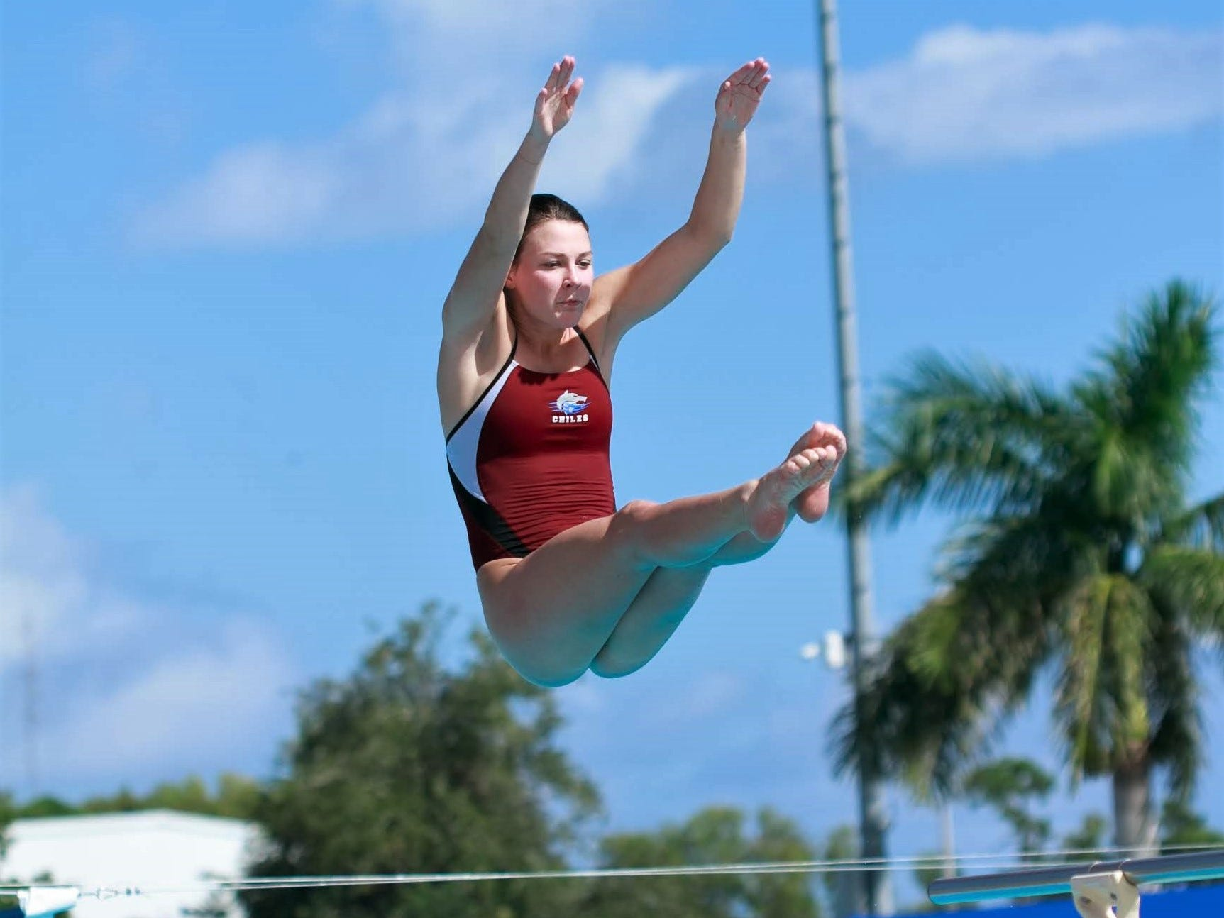 Chiles senior Rainey Vause competes in the FHSAA Class 3A state meet.  Vause finished third with a career-best score.