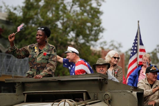 Tallahassee's Veterans Day parade is held along South Monroe street in downtown Monday, Nov. 12, 2018.
