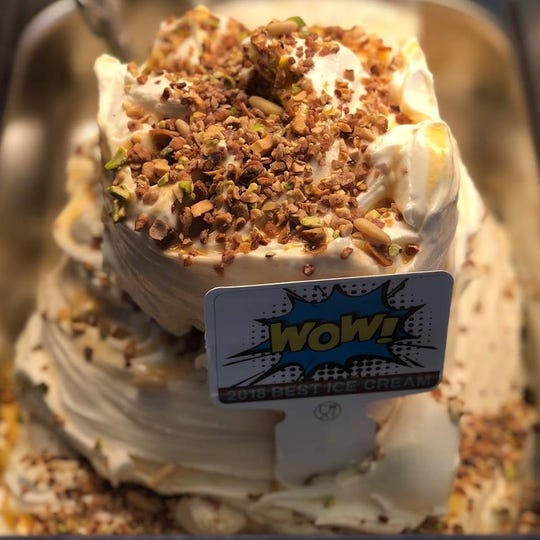 The winning entry, 'Wow,' earned Sweet Kiss the title of Best Ice Cream Parlor in America, along with a check for $10,000.