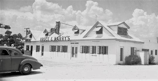 Bruce & Harry's Restaurant in the 1950s.