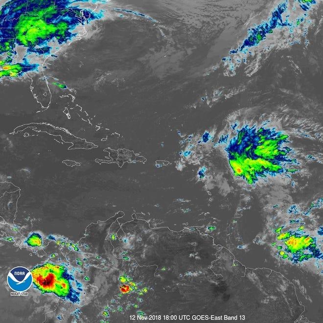 Tropical wave 1:30 p.m. Nov. 12, 2018