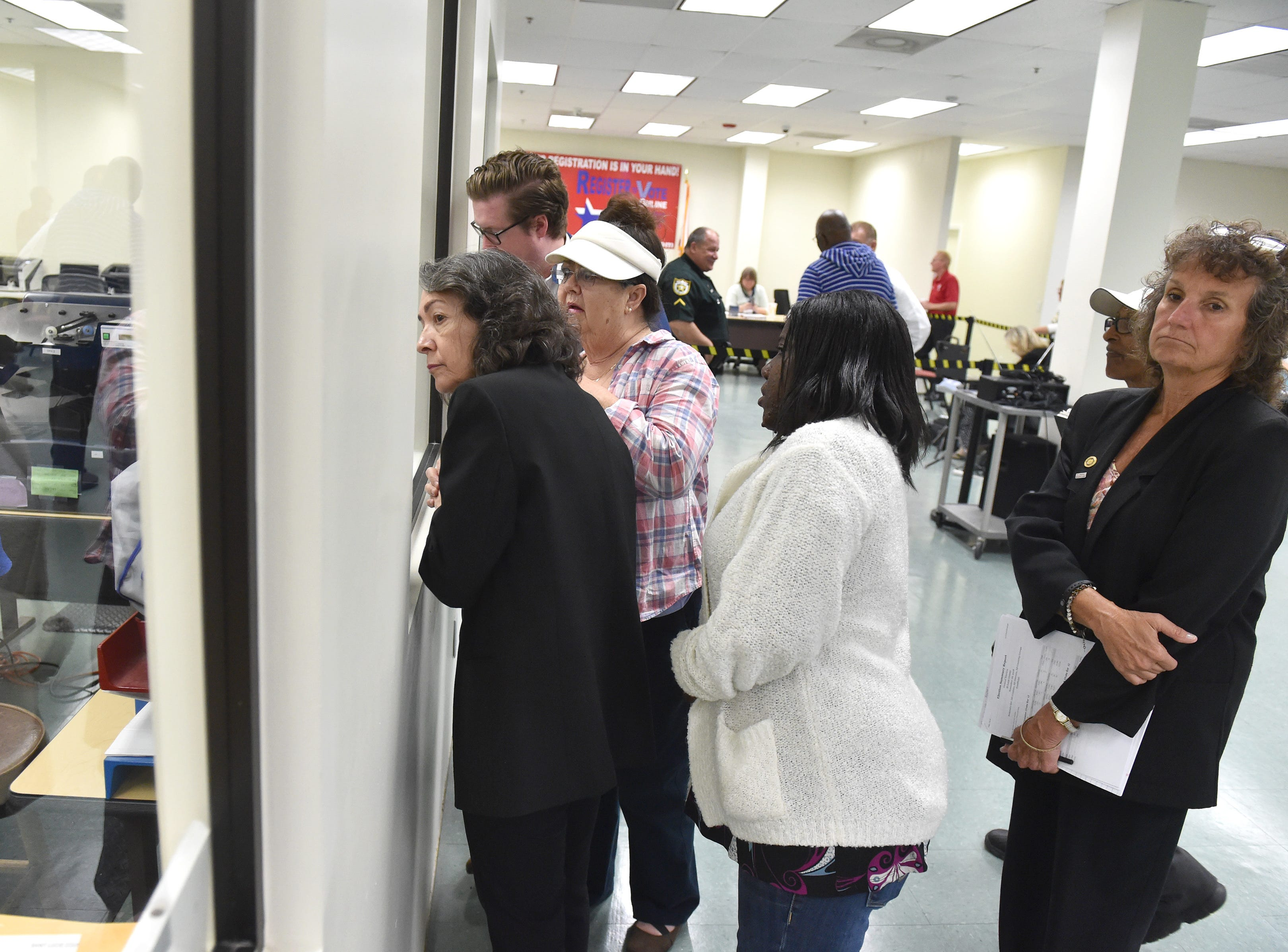 The St. Lucie County Supervisor of Elections staff begin their machine recount of 38,853 absentee ballots on Monday, Nov. 12, 2018, in Fort Pierce. The Florida Secretary of State ordered a machine recount of the Governor, U.S. Senate, and the Florida Commissioner of Agriculture contests.