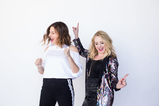 The comedy duo of Jen Smedley and Kristin Hensley, creators and stars of the Facebook weekly series #IMomSoHard, return to Thousand Oaks Nov. 18.