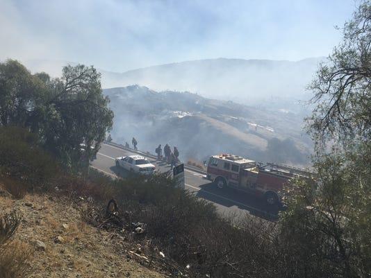 Rocky Peak Fire 1