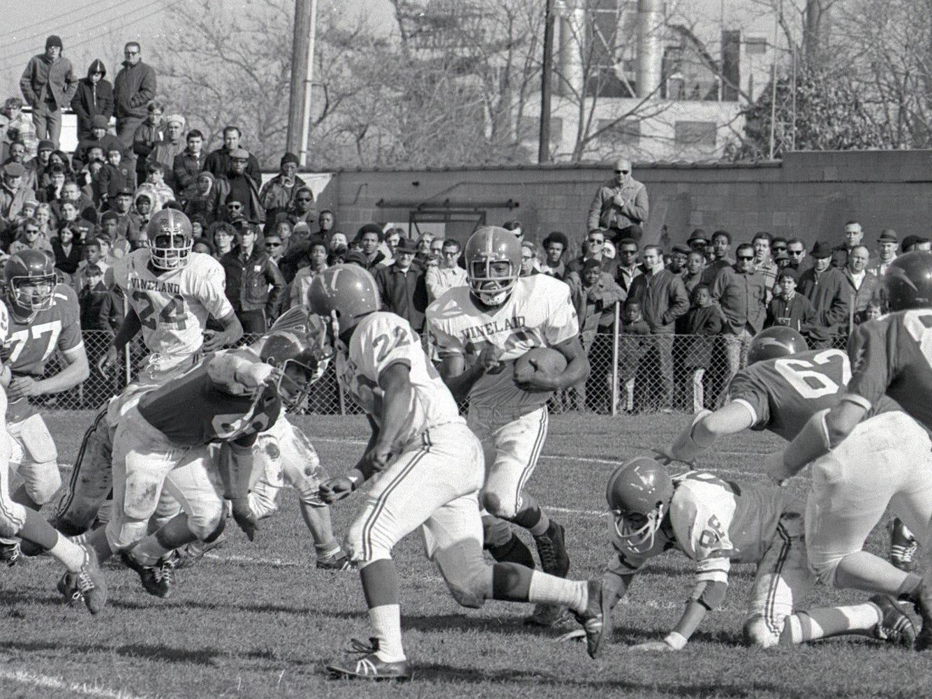 Football: Vineland vs. Millville in 1970.