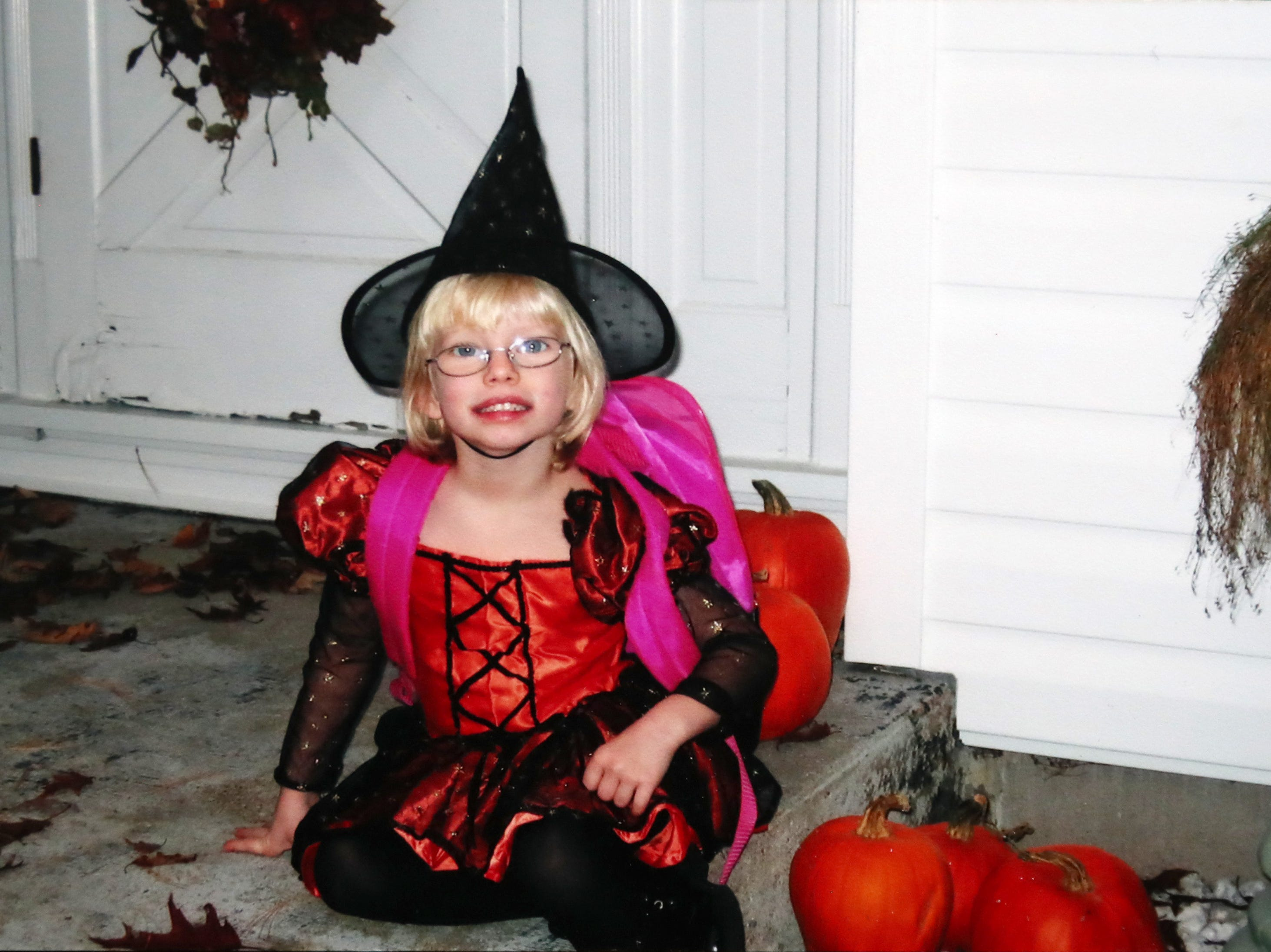 A photo of Morgan Peiper on Halloween 2004.