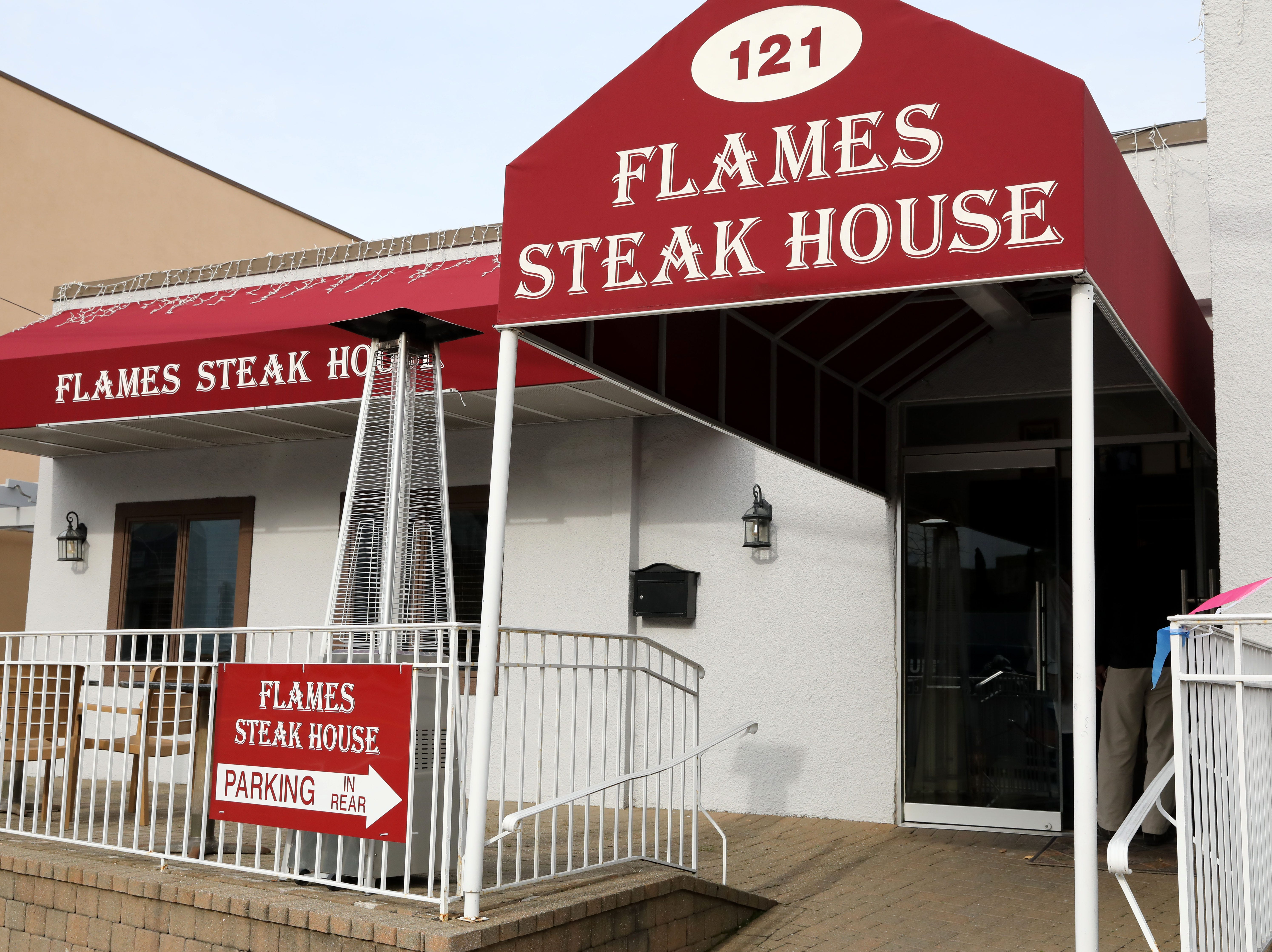 Flames Steakhouse in Elmsford Nov. 12, 2018.