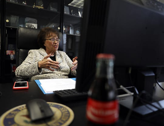 Congresswoman Nita Lowey talks about her career in politics at her office in White Plains Nov. 12, 2018