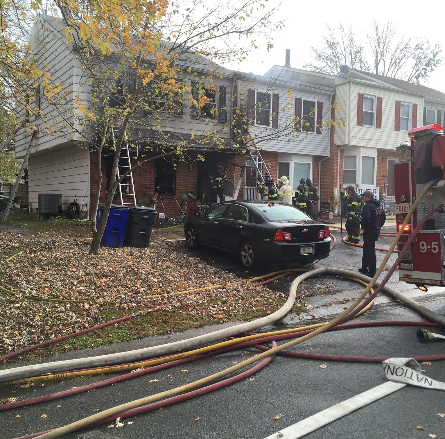 Firefighters rescue woman hanging out her second-floor window to escape Ogletown blaze