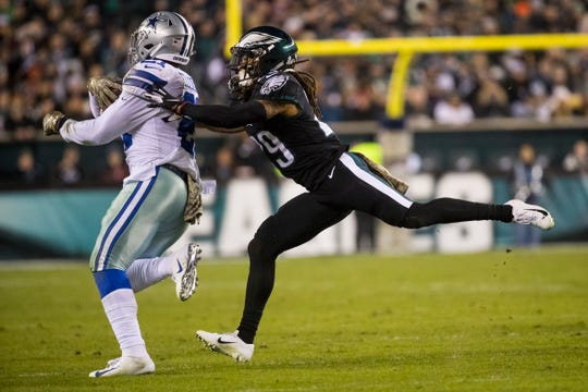 Avonte Maddox, shown in a Nov. 11 game against the Cowboys, had an interception against the Rams in the Eagles' 30-23 win Sunday.