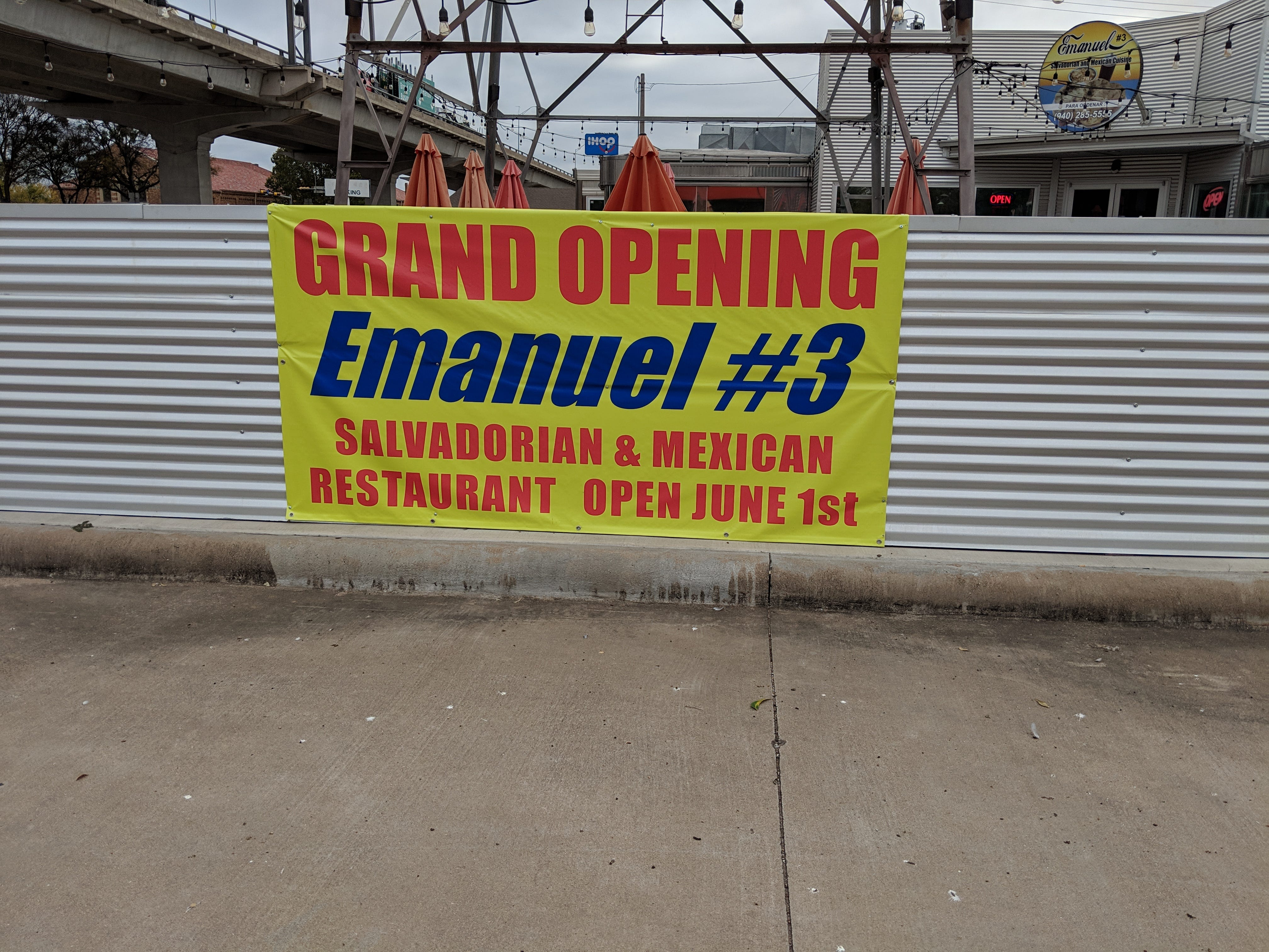 Outside Emanuel #3 Salvadorian and Mexican Restaurant at 902 Board St.