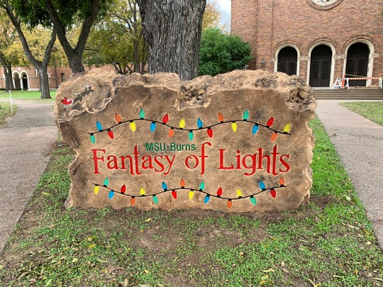 One of three new displays this year is The Rock of Fantasy of Lights, a 3,500 lb boulder donated by Boulder Designs, to serve as the event logo.