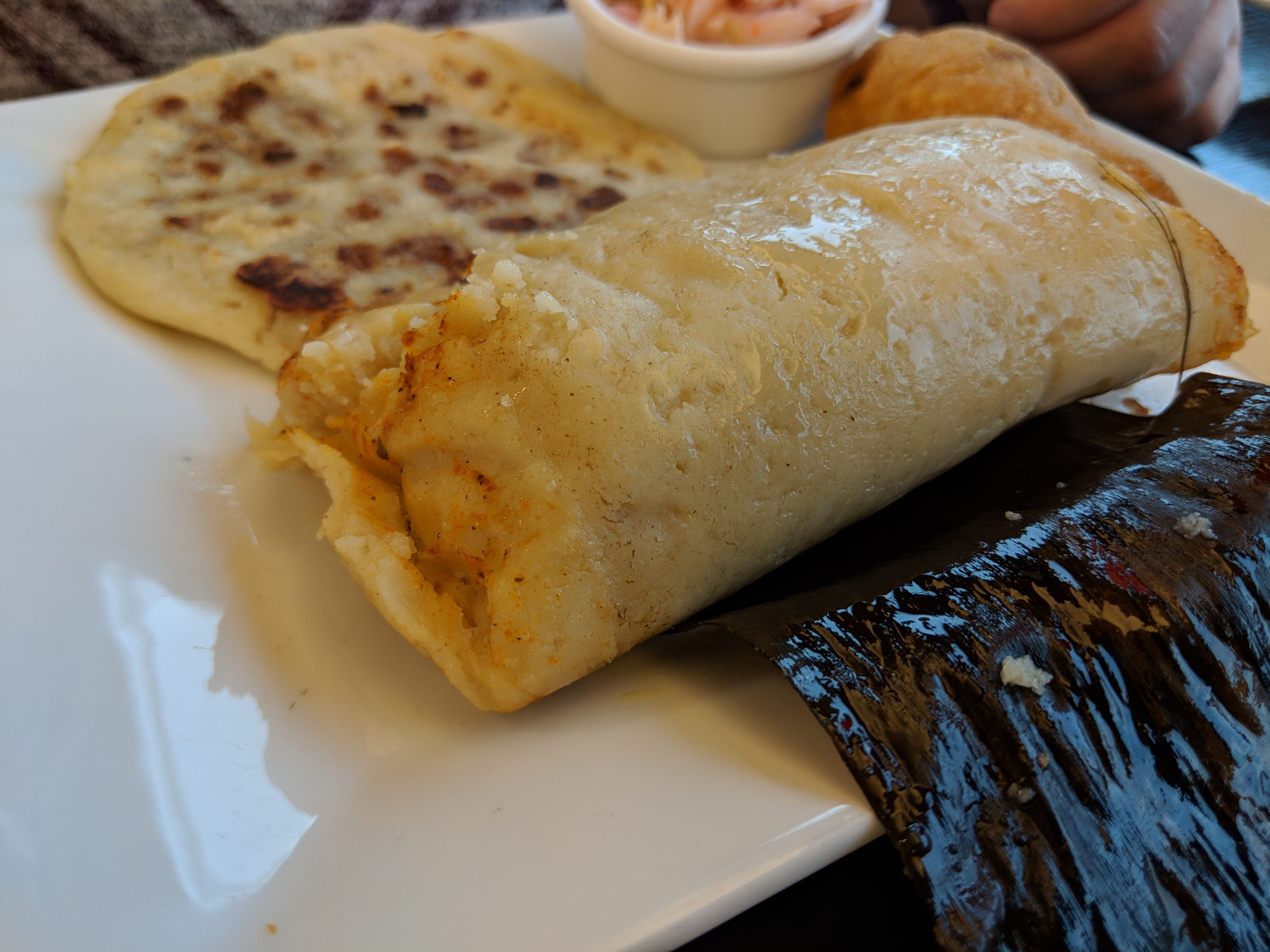 Tamales Salvadorenos at Emanuel #3 Salvadorian and Mexican Restaurant at 902 Board St.