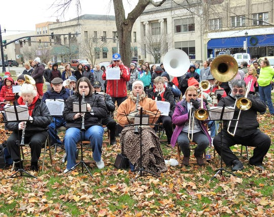 The Walhonding Rub Band played for the annual Veterans Day ceremony on the Coshocton Court Square.