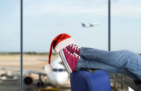 Teenage Passenger At The Airport