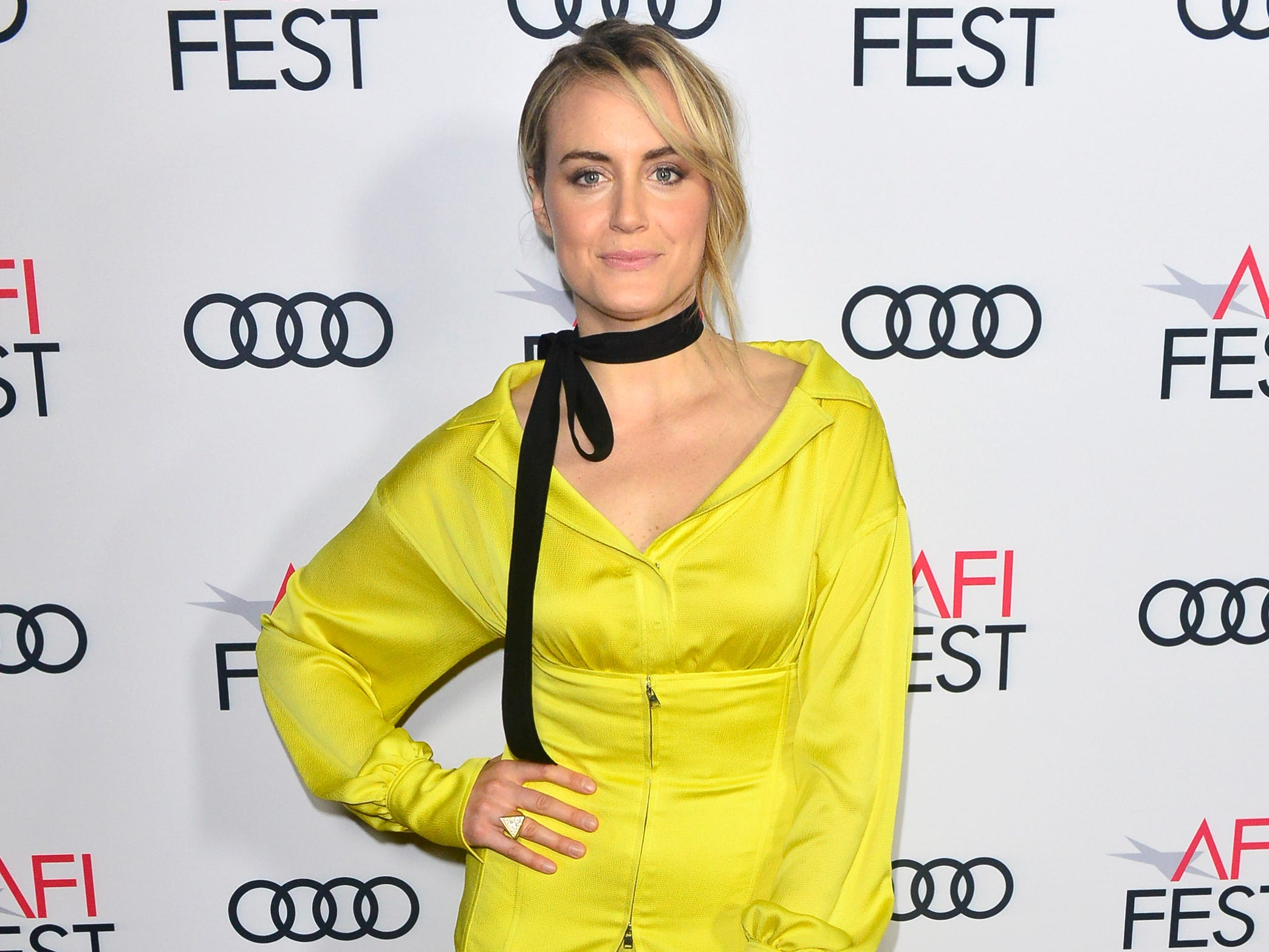 HOLLYWOOD, CA - NOVEMBER 10:  Taylor Schilling attends Festival Filmmakers #3 at AFI FEST 2018 Presented By Audi at TCL Chinese 6 Theatres on November 10, 2018 in Hollywood, California.  (Photo by Jerod Harris/Getty Images for AFI) ORG XMIT: 775252139 ORIG FILE ID: 1060098180