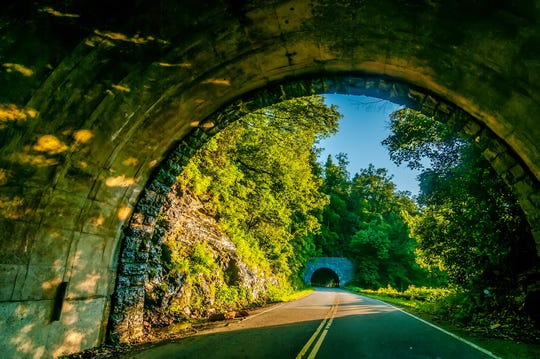 The Blue Ridge Parkway.