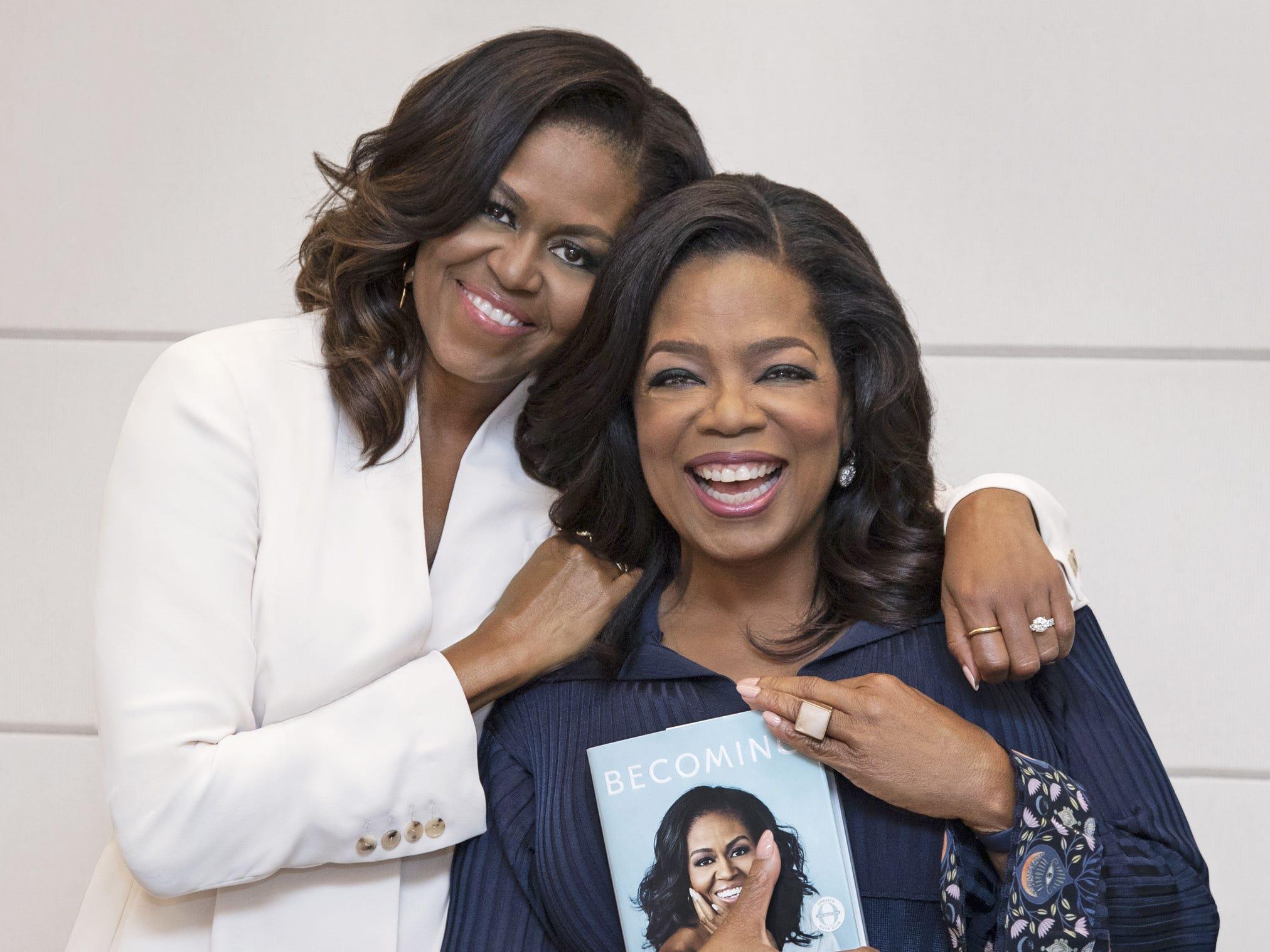 Oprah Winfrey picks Michelle Obama's memoir 'Becoming' for her book club