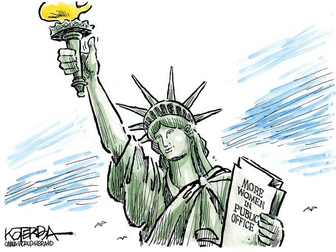 Liberty smiles