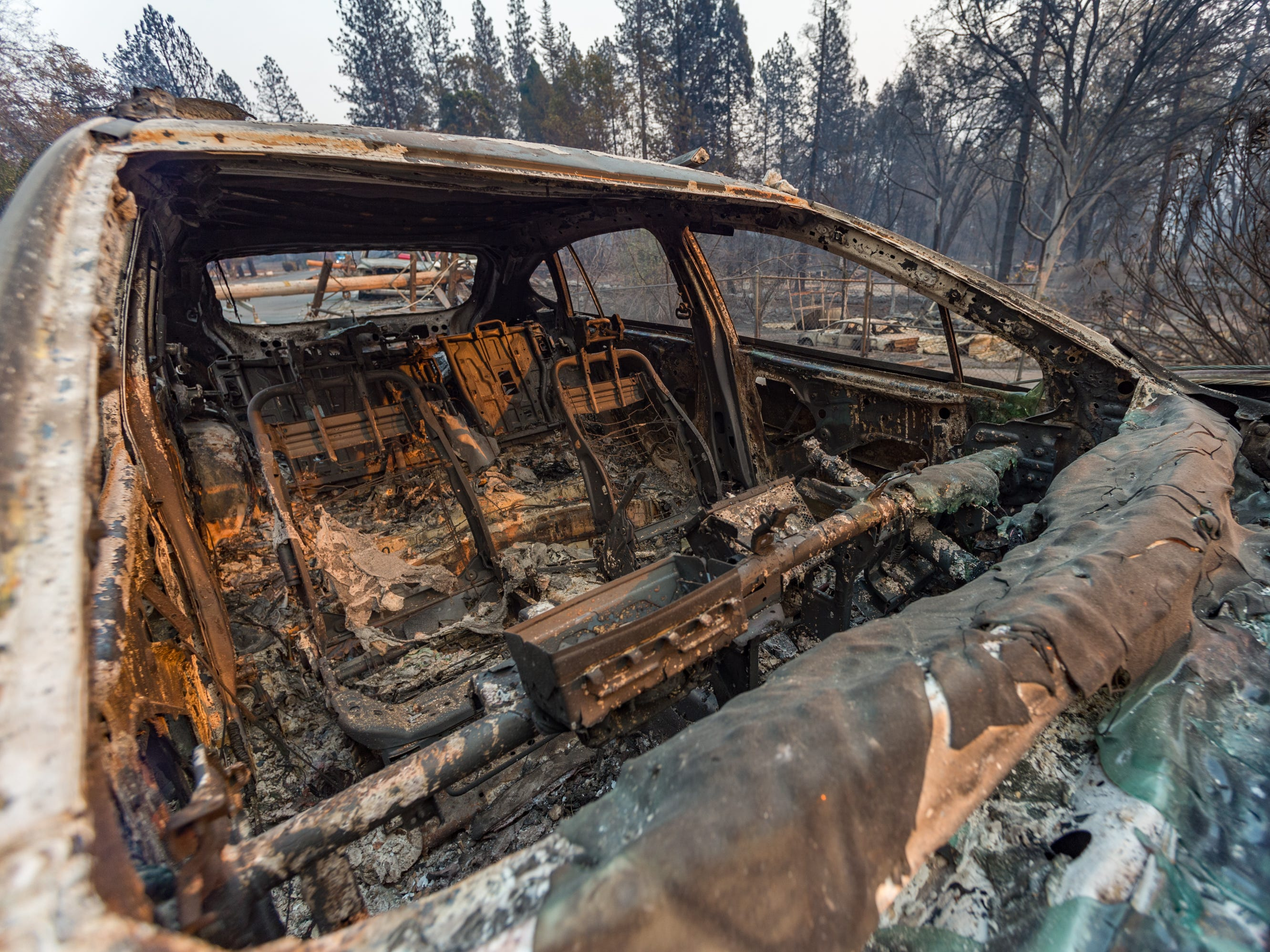 The Camp Fire swept through Paradise, CA destroying more than 6,500 structures and the death toll has risen to 23.  November 11, 2018.