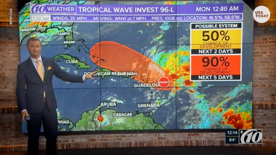 Tropical depression or storm possible as tropical wave approaches