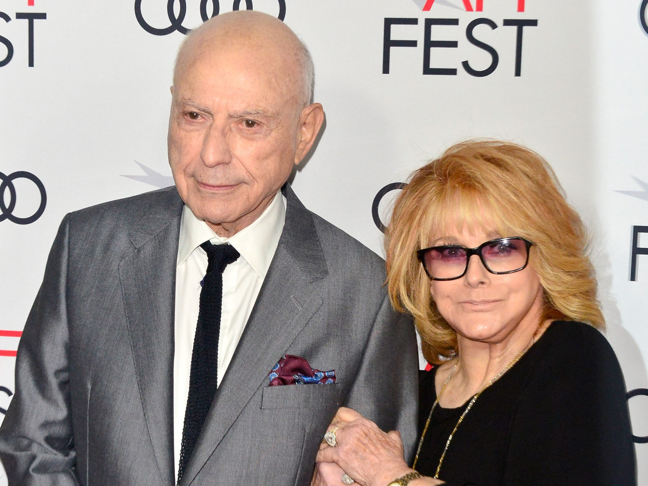 "HOLLYWOOD, CA - NOVEMBER 10:  Alan Arkin (L) and Ann-Margret attend the Gala Screening of ""The Kominsky Method"" at AFI FEST 2018 Presented By Audi at TCL Chinese Theatre on November 10, 2018 in Hollywood, California.  (Photo by Jerod Harris/Getty Images) ORG XMIT: 775252142 ORIG FILE ID: 1060103838"