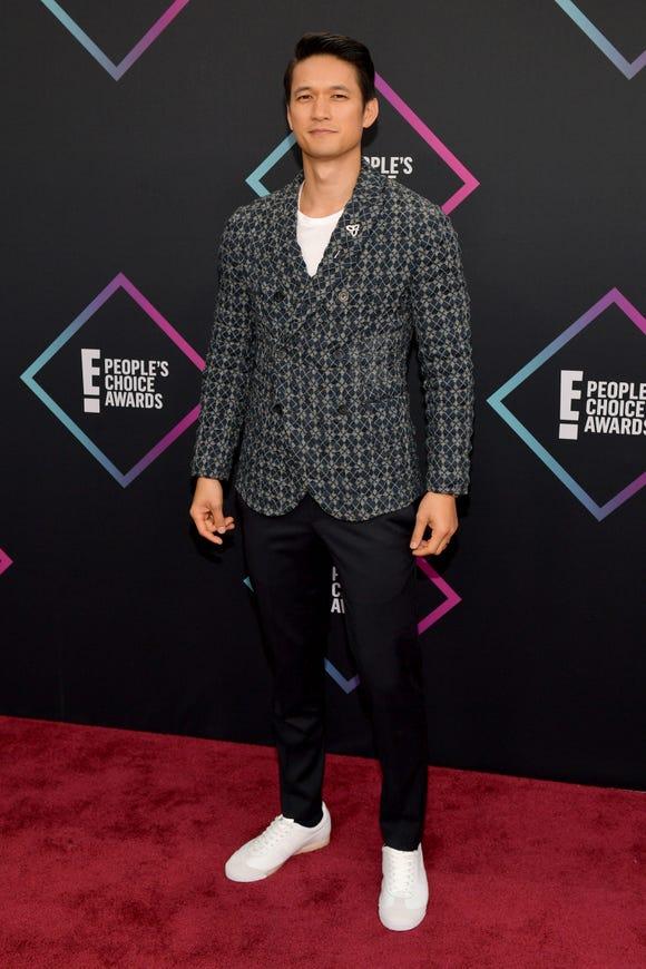 Harry Shum Jr. attends the People's Choice Awards 2018 on Nov. 11, 2018 in Santa Monica, Calif.