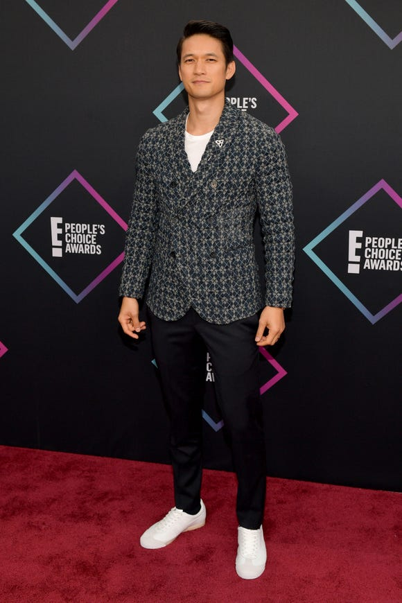 Harry Shum Jr. attends the People's Choice Awards 2018 on Nov. 11, 2018 in Santa Monica, Calif.