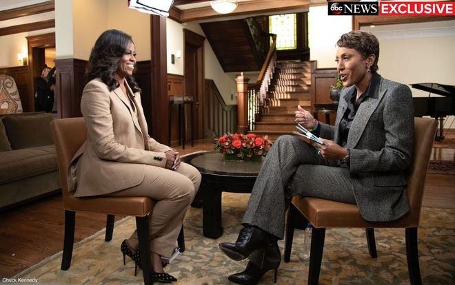 "Former first lady Michelle Obama took ""Good Morning America"" anchor Robin Roberts back to her childhood home in the South Side of Chicago ahead of the release of her memoir, ""Becoming."""