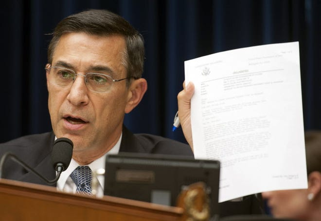 House Oversight and Government Reform Chairman Rep. Darrell Issa, R-Calif., questions a witness during a hearing on Benghazi,  May 8, 2013, in Washington, D.C.