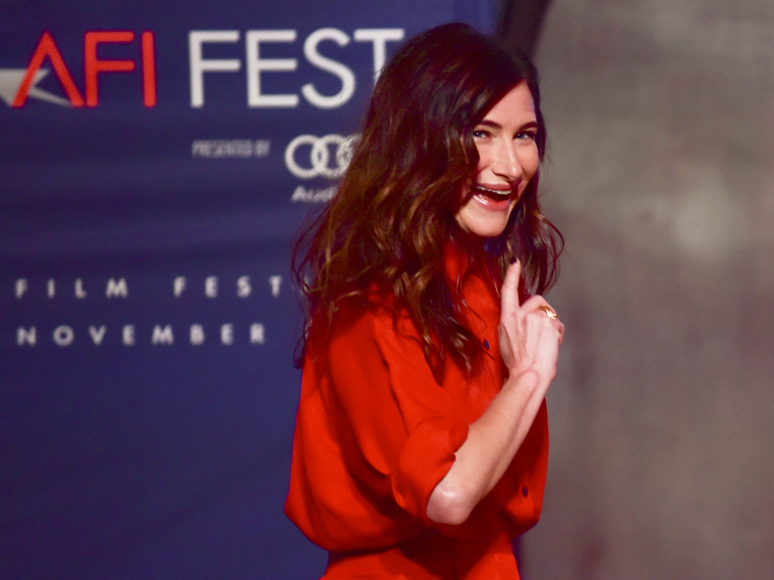 LOS ANGELES, CALIFORNIA - NOVEMBER 11: Kathryn Hahn onstage at AFI FEST 2018 Presented by Audi - Indie Contenders at The Hollywood Roosevelt Hotel on November 11, 2018 in Los Angeles, California. (Photo by Rodin Eckenroth/Getty Images for AFI) ORG XMIT: 775252718 ORIG FILE ID: 1066343160