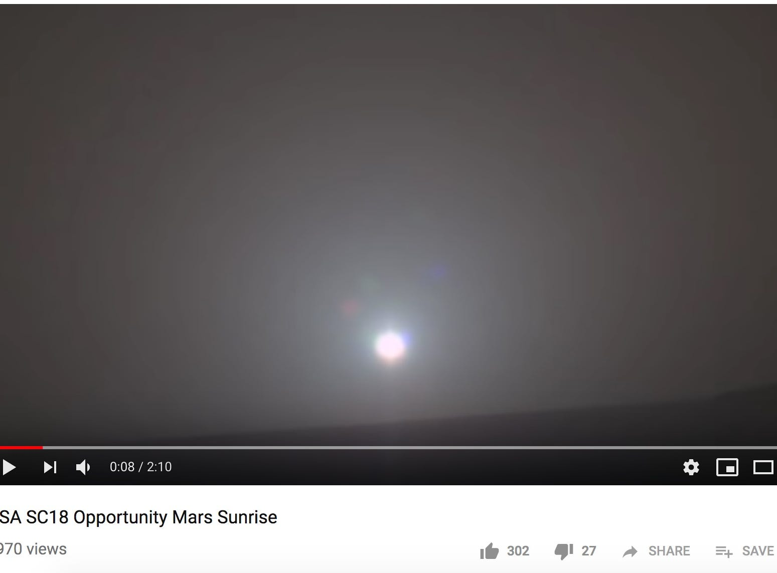 Scientists turned a Mars sunrise photo into music using data from NASA's Opportunity rover, and it's beautiful