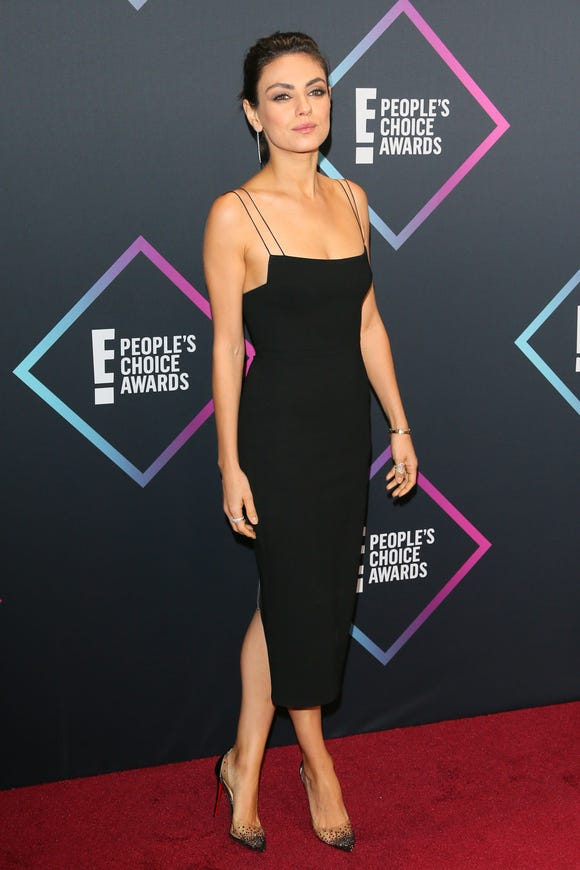 Mila Kunis attends the People's Choice Awards 2018 on Nov. 11, 2018 in Santa Monica, Calif.