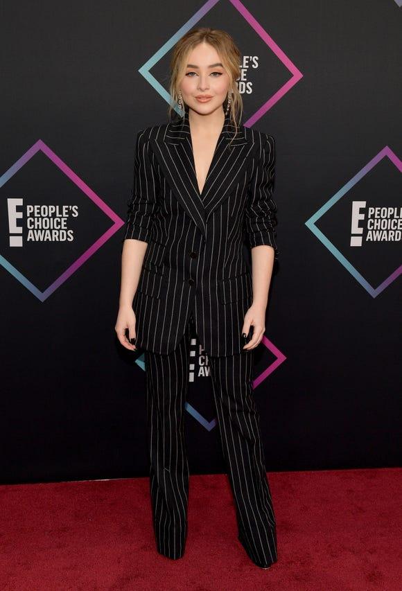 Sabrina Carpenter attends the People's Choice Awards 2018 on Nov. 11, 2018 in Santa Monica, Calif.