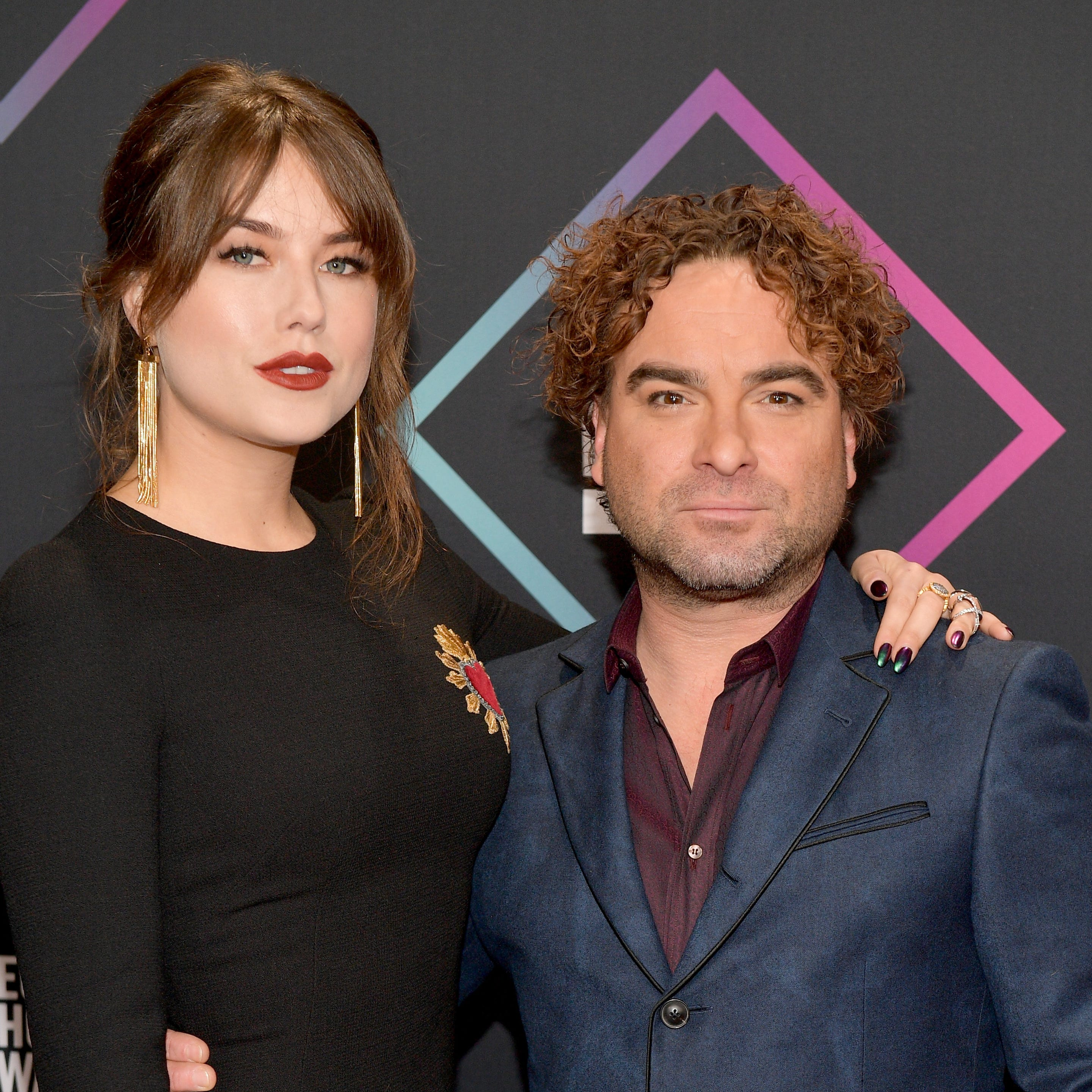 Johnny Galecki and Alaina Meyer are now red-carpet-official.