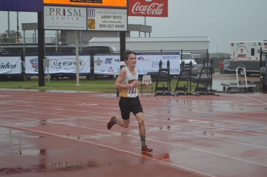 Hornbeck's John Jett finished second in the LHSAA Class B boys cross country race Monday in Natchitoches.